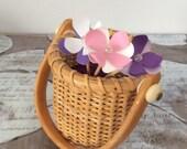 Flower Cupcake Toppers Custom Colors
