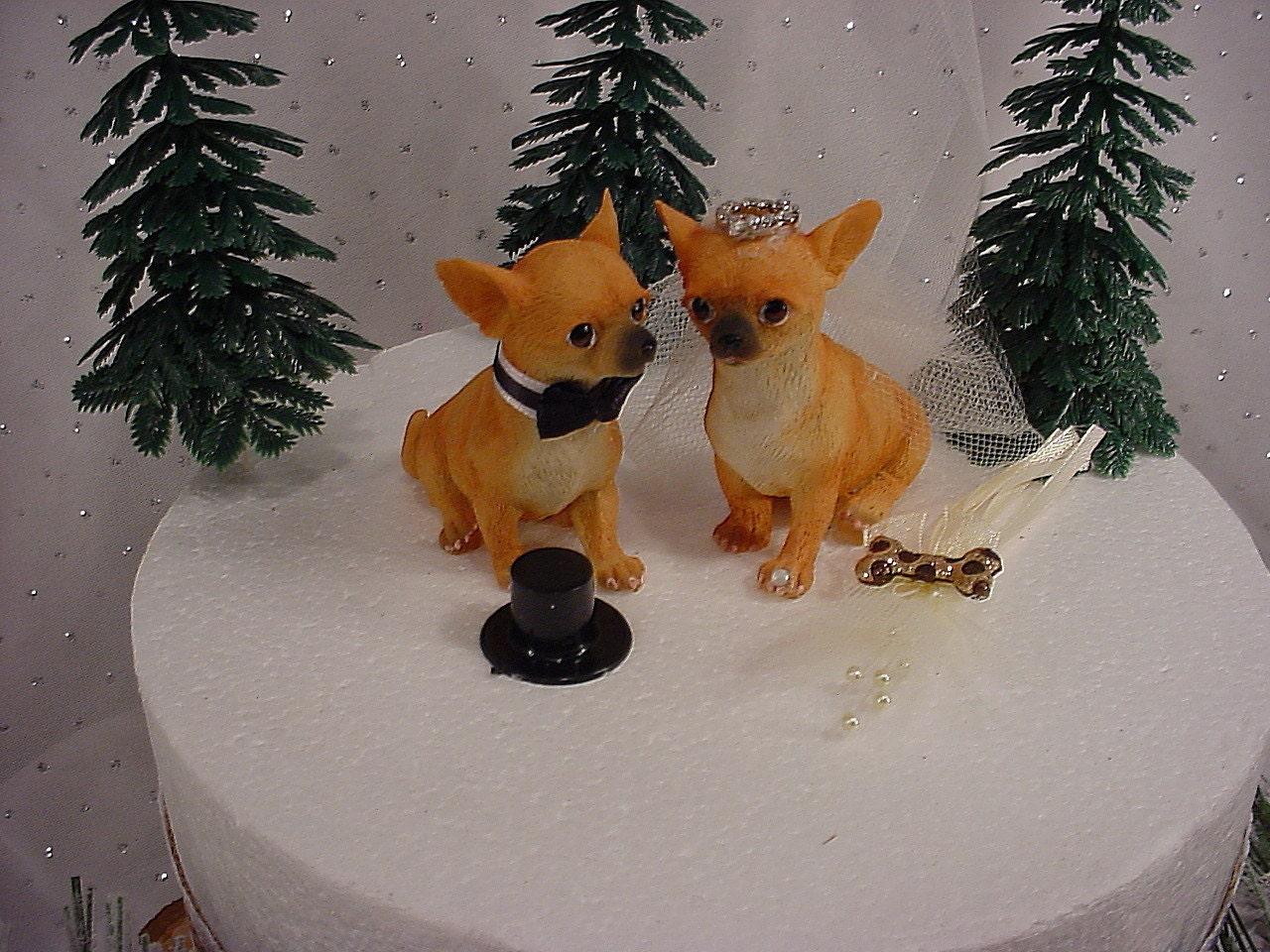 Chihuahua Puppy Dog Wedding Cake Topper Hunter Groom s