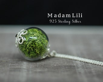 925 Sterling Silver True Moss Necklace