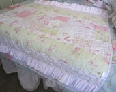 MARABELLA A Simply Shabby Chic Ruffled Baby Quilt Handmade In The USa With Treasures Fabrics