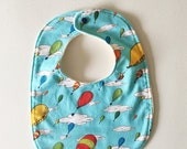 Baby Bib with Organic Cotton. Dr. Seuss Oh The Places You'll Go. Ready to ship.