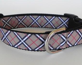 English Plaid Dog Collar