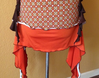 "Belly Dance Flirty Skirt 36""-42"" Tribal Fusion"