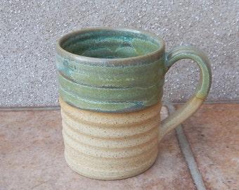 Coffee mug tea cup handthrown in stoneware pottery