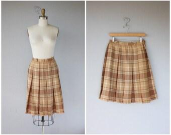 Vintage Wool Midi Skirt | Wool Skirt | 1960s Skirt | 60s Skirt | Vintage 60s | Vintage Pleated Skirt