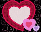 SWEETHEARTS #7- 1 Machine Embroidery Design Instant Download 4x4 5x7 6x10 hoop (AzEB)