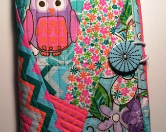 Quilted Owl Mini Legal Notebook Holder