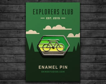 Explorers Club: Cyclist Enamel Pin