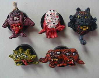 Strange Little Monsters Magnet Set (Miniature Style)