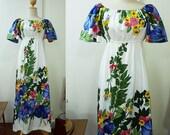 1960s Hawaiian  maxi dress / party dress