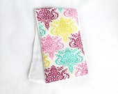Burp Rag - Colorful Damask