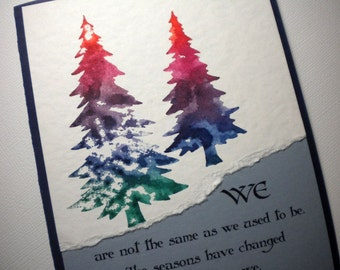 Mixed Media Greeting Card with quote - CHANGING SEASONS
