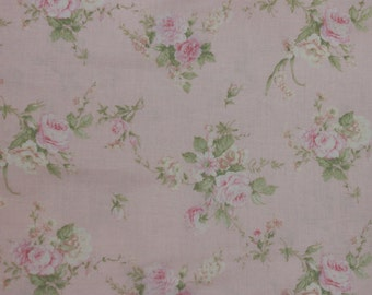 Yuwa French Roses  on Soft Pink Cotton Fabric 826227B