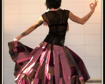 CUSTOM ORDER DEPOSIT Corduroy Scrappy Patchwork Maxi Skirt