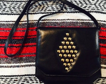 Vintage Black and Gold Studded Purse
