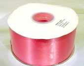 Wholesale hot pink 2.5 inch wide double faced satin ribbon roll 50 yds wedding sewing bridesmaid bridal party sash bouquets wedding