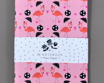 Pink Flamingos Notebook / Flamingos Notebook / Pink Flamingos Notepad