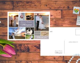 50x Personalised Photo Wedding Thank you Postcards