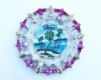Vintage Florida Wall Decor Plate