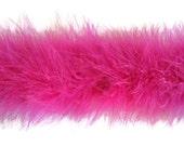 Pink Marabou Boa, 2 YARDS - HOT PINK Marabou Feather Boa 25g : 130