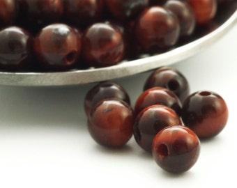 15 - Grade A 4mm Round Red Tigereye Beads - 100% Guaranteed Satisfaction