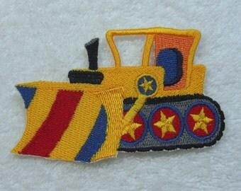 Grader Dozer Bull Dozer Embroidered Iron on Applique Patch Ready to Ship