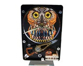 "FREE SHIPPING! Hard Drive Clock with Computer Parts ""Wise Owl"" Dial. ""Computer Parts All Over the Place!"" Got Teacher Gift?"