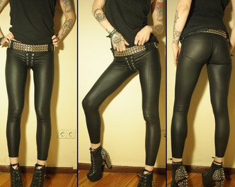 Kissin' Bombs stretchy fauxleather pants XS/S