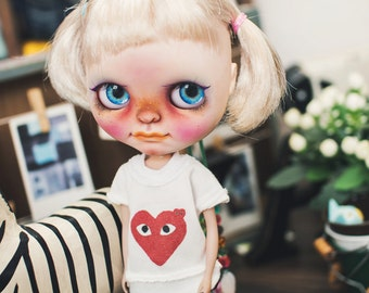 Blythe Be Funny Heart - White