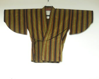 Striped Dochugi Blouse Vintage Wafuku 二