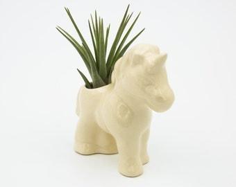 ceramic air plant holder - Unicorn air plant Terrarium - air plant holder - mystical mini planter