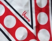 Vintage Vera White Red Black Polka Dot Scarf