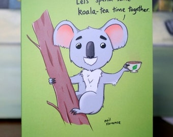 Koala-Tea Time Greetings Card A5