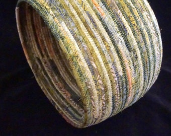 Extra Large Fabric Basket in Shades of Mossy Green