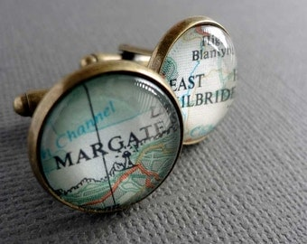 Groom Cufflinks for Emily -  Hoghton Tower and Hoghton, Lancs