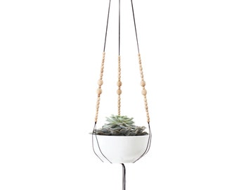 MIRARI .01  - Modern Macrame Hanging Planter without bowl - MORE COLORS
