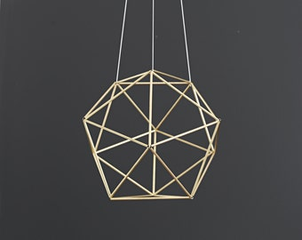 ORBIS - Modern Hanging Mobile - Geometric Sphere Sculpture - Himmeli - Air Plant Holder