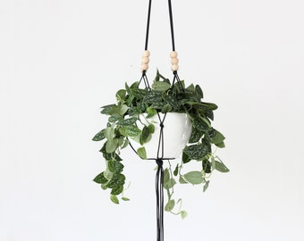 LINEA .01 - Large Modern Macrame Hanging Planter without bowl - MORE COLORS
