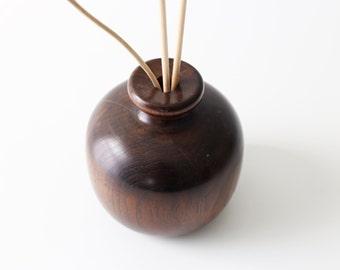 Vintage Ball Wood Vase