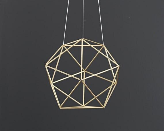 ORBIS - Modern Hanging Mobile - Geometric Sphere Sculpture - Himmeli - Air Plant Holder