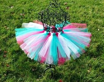 Mod tutu- Mod Christmas tutu- Pink and blue tutu- Pink and blue Christmas tutu- Modern Christmas tutu-Baby girl Christmas tutu- Elf tutu