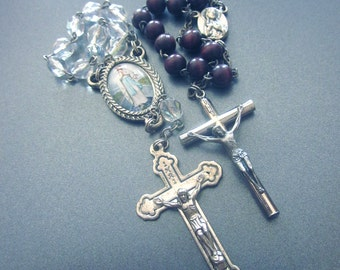 Vintage Miniature One Decade Crystal Rosary Single Decade Rosaries Lot
