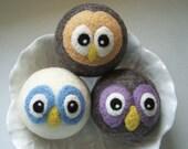 "Wool Felt Balls - Set of 3 ""Dryer Hoots"""