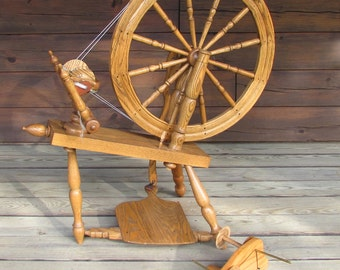 Reserved - Sold  to Jessy Marie Angus Rick Reeves Saxony Spinning Wheel ST Made by Rick Reeves