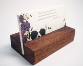 Wooden Business Card Holder - Mahogany - Hand Shaped - 13th