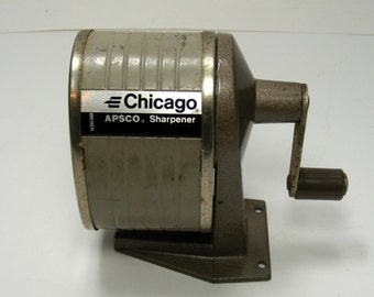 Vintage Pencil Sharpener by Berol Wall or Desk Mount Chicago Pencil Sharpener