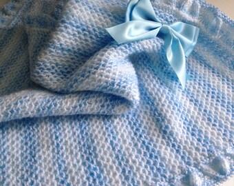 SALE! Little Boy Blue baby blanket knitting pattern