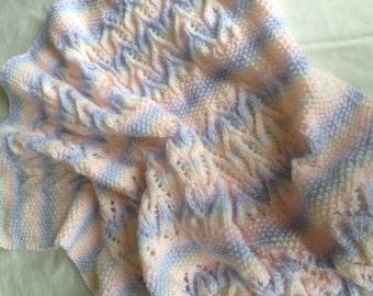 AVALINE baby blanket knitting pattern