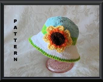 Knitted Hat Pattern Baby Hat Pattern Newborn Baby Hat Infant Baby Hat Children Clothing Baby Hat with Sunflower: SPRING HAS SPRUNG