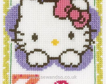Sanrio Hello Kitty cross stitch kit. Perfect for new baby.